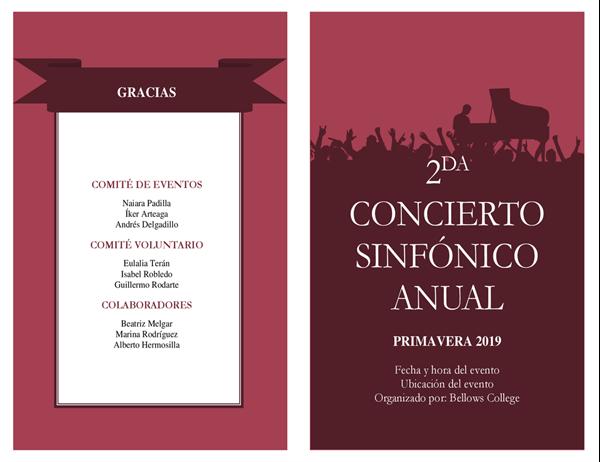 Programa de conciertos