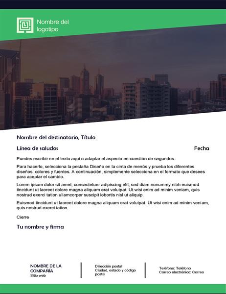 Carta de negocios (diseño de bosque verde)