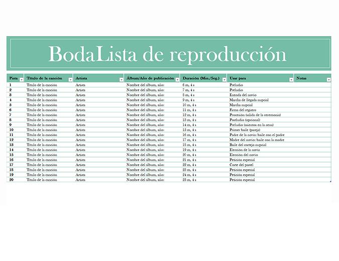 Lista de reproducción de bodas