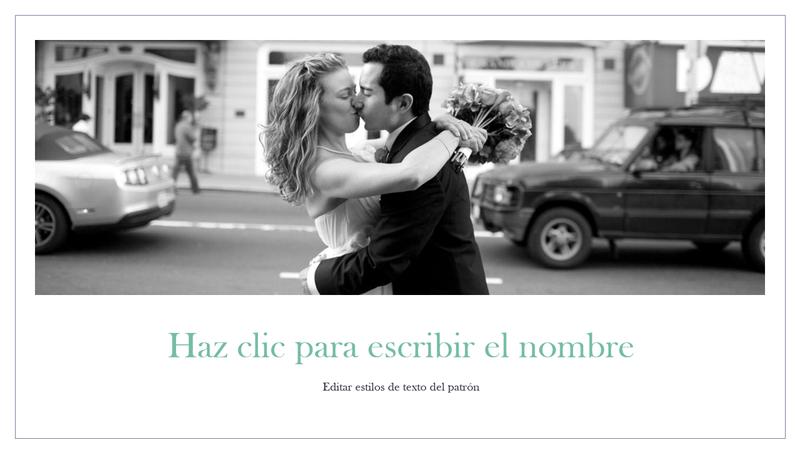 Álbum de fotografías de boda simple
