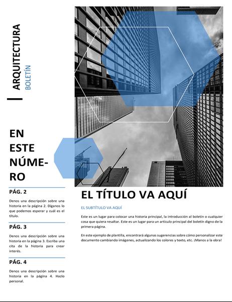 Boletín de noticias de arquitectura