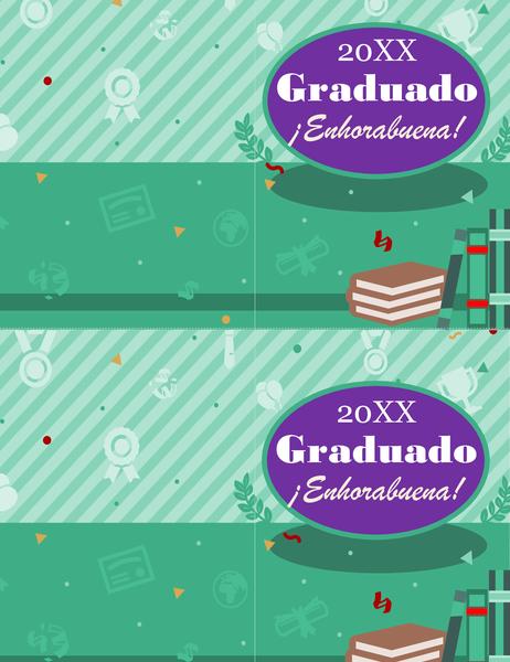 Tarjeta de graduación (2 por página)