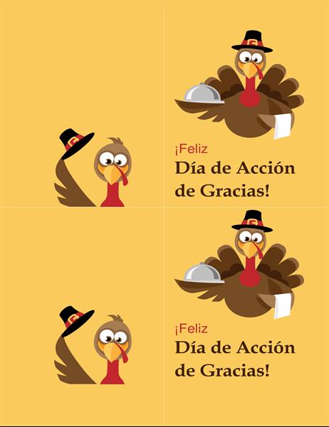 Tarjeta alegre de pavo de Acción de Gracias