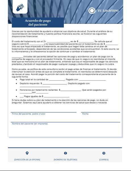 Acuerdo de pago del paciente para servicios de salud
