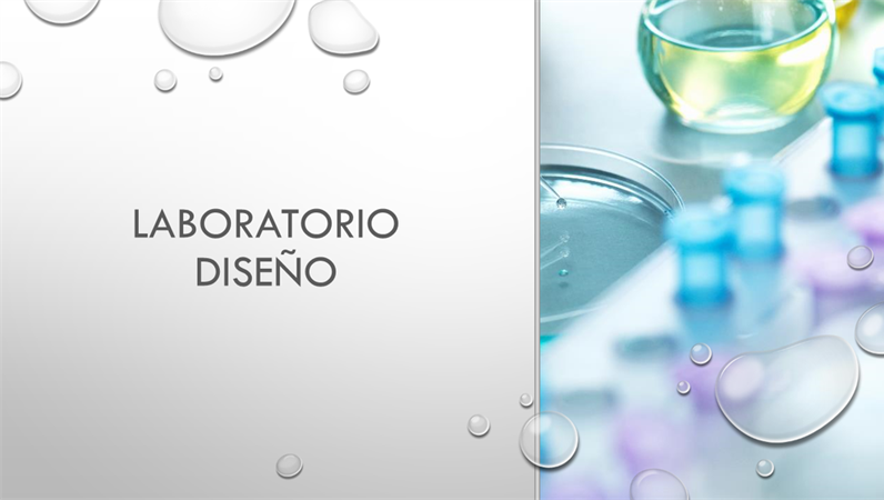 Diseño de gota para laboratorio