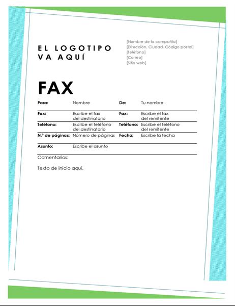 Portada de fax geométrica