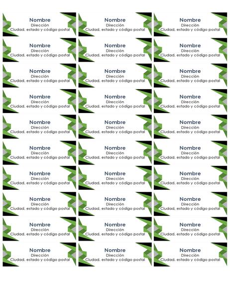 Etiquetas de triángulos (30 por página)