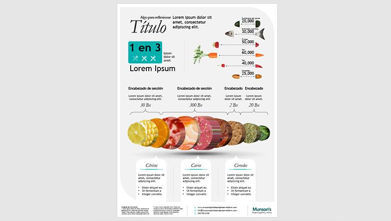 Póster infográfico de alimentos