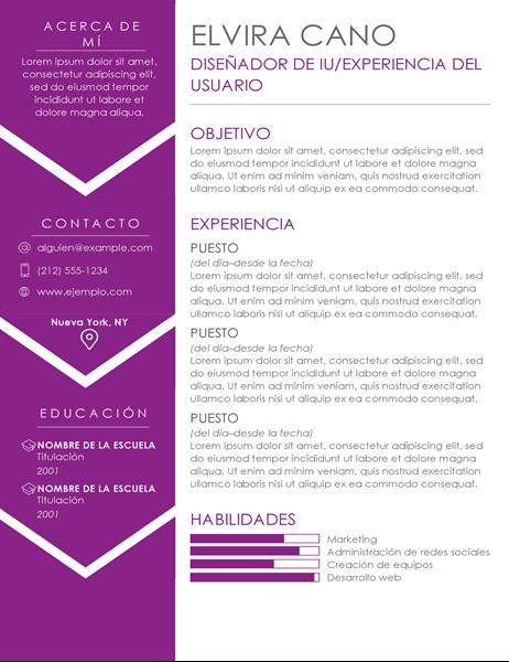 Currículum vítae contemporáneo