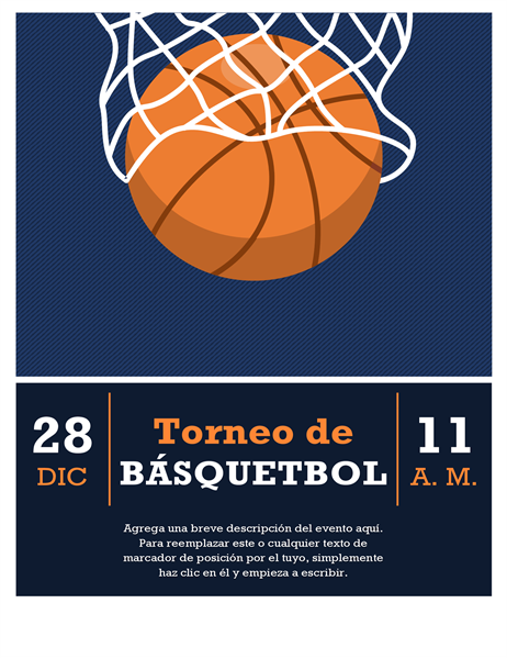 Folleto de torneo de baloncesto