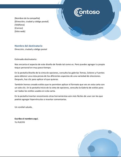 Membrete esferas azules