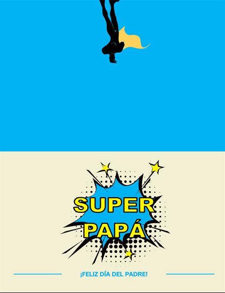 Tarjeta del día del padre Superpapá