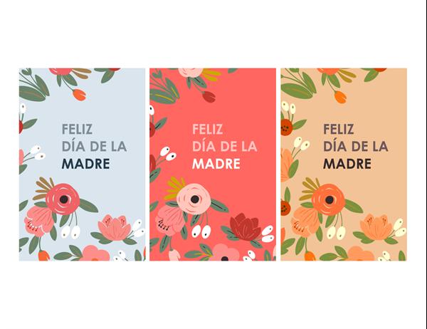 Tarjeta del Día de la madre con diseño floral