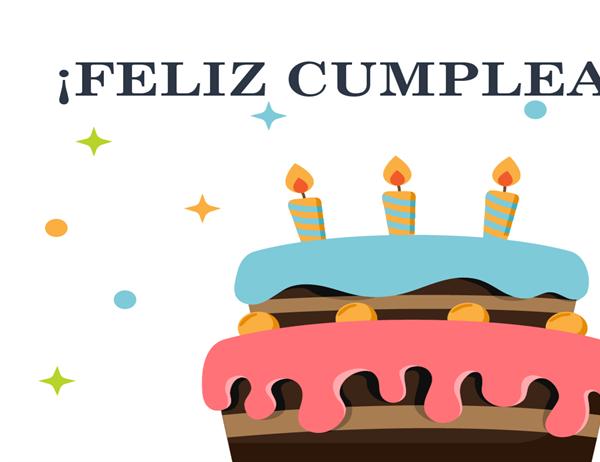 Tarjeta de cumpleaños de pastel grande