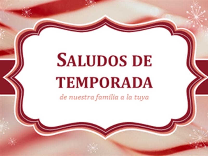Cartas navideñas de bastones de Caramelo en espiral (2 por página)