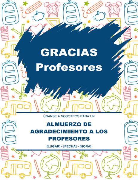 Folleto de agradecimiento para profesores