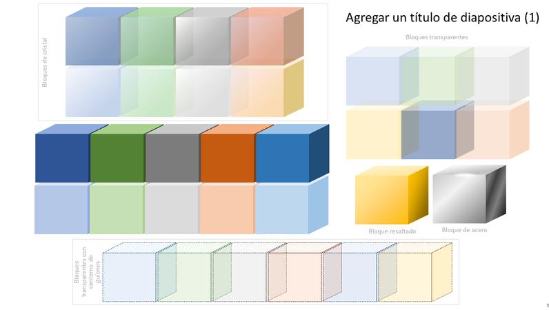 Gráfico de bloque coloreado