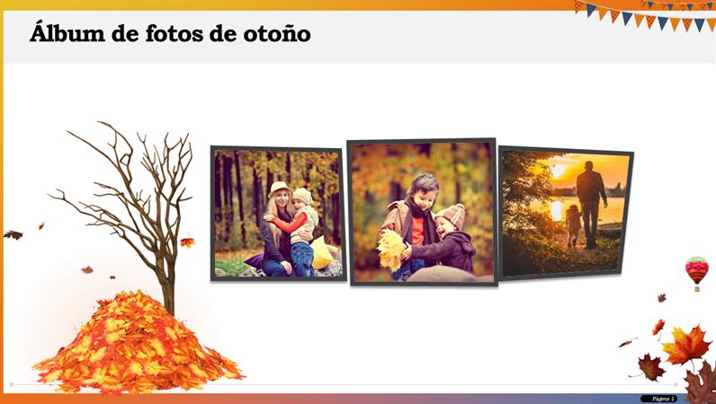Álbum de fotos de otoño