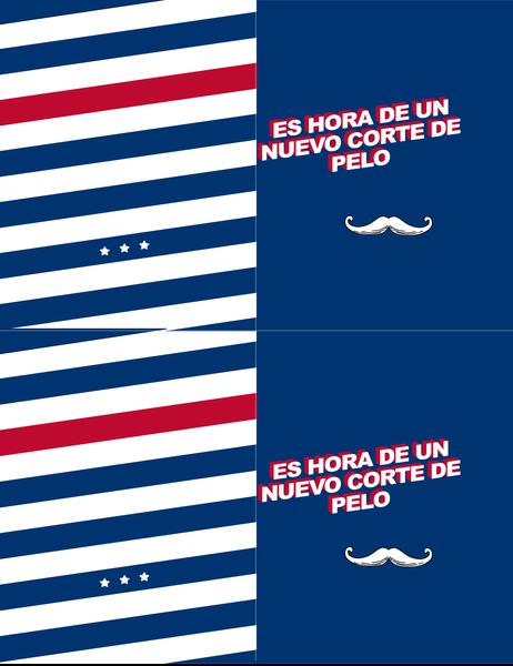 Tarjeta de felicitación para cada día de bigote extravagante