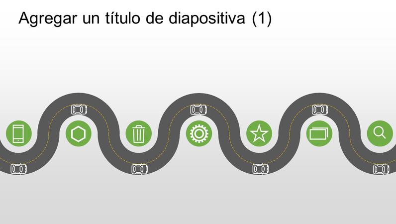 Gráfico de carretera de progreso de escala de tiempo
