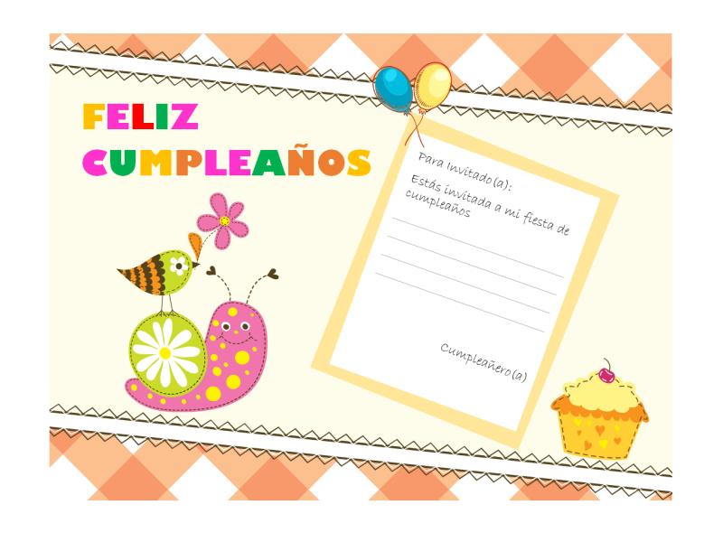 Invitación A Cumpleaños Diseño Infantil