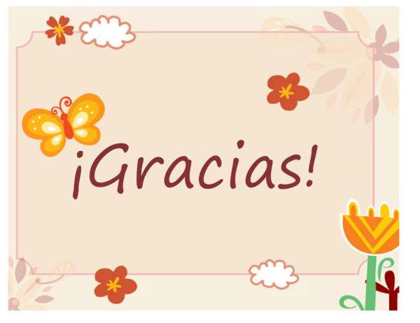 Tarjeta de agradecimiento (diseño de mariposas y flores)