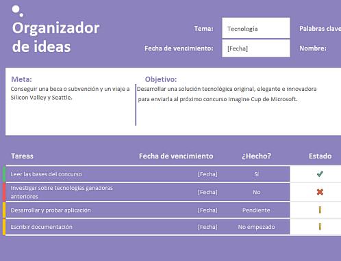 Organizador de ideas (tareas)