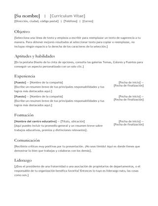 CV (currículum vítae)