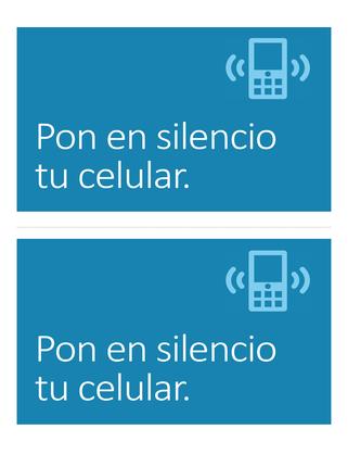 Póster de recordatorio de teléfono celular apagado (azul)