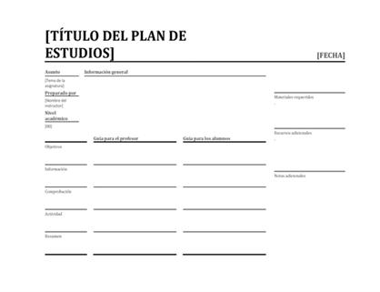 Planificador de clases diarias