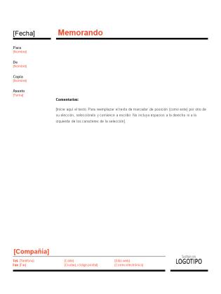 Memorando empresarial (diseño rojo y negro)
