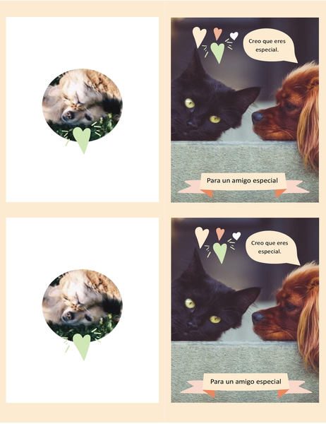 Tarjeta de gatitos y perritos