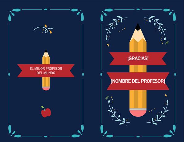 Tarjeta de agradecimiento para profesores