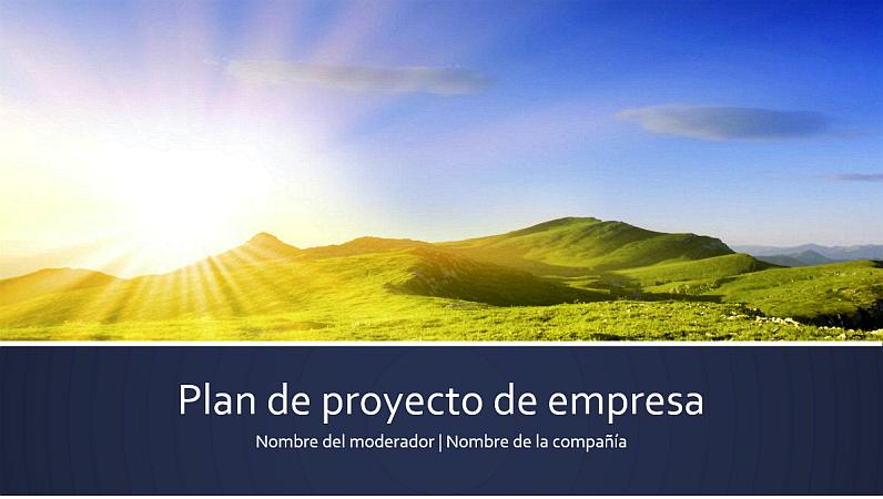 Presentación del plan de proyecto de empresa (panorámica)