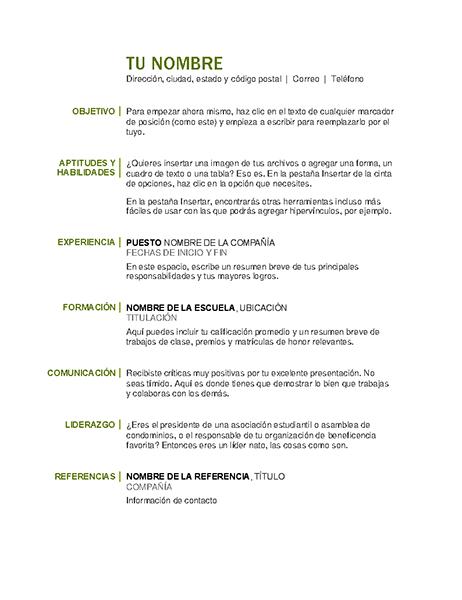 Currículum básico