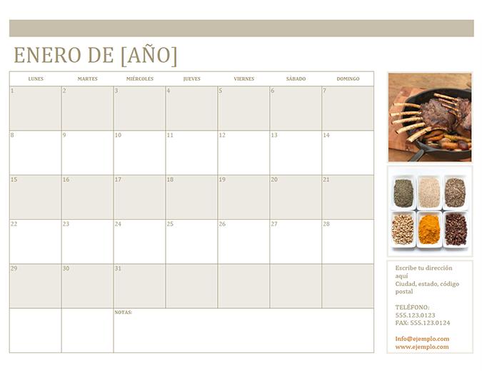 Calendario de fotos (lu.)