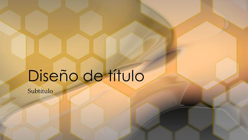 Diapositivas de diseño Hexagonal