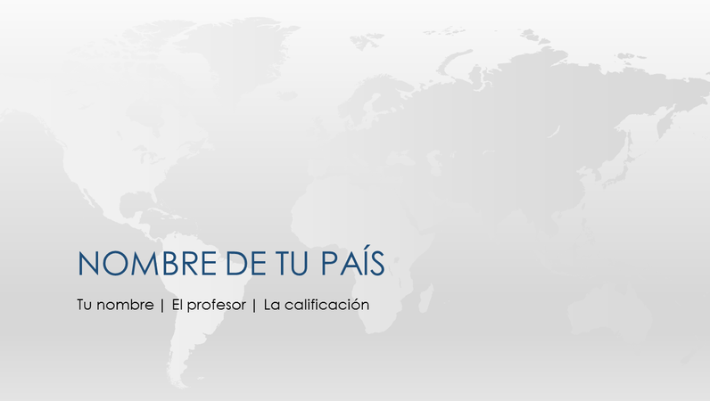 Presentación mundial del informe del país