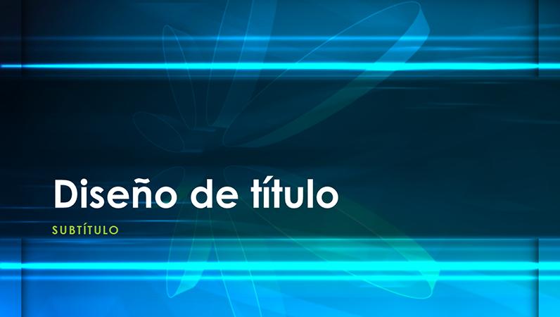 Diapositivas de diseño Átomo azul