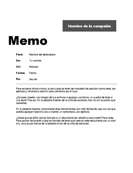 Memo (diseño profesional)