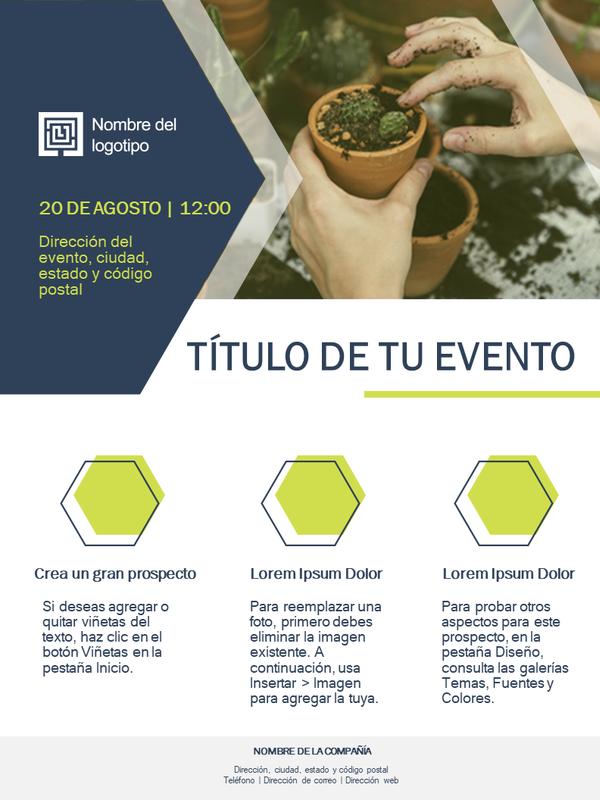 Prospecto de pequeña empresa (diseño verde)