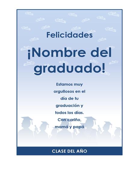 Prospecto para felicitar a un graduado (diseño Fiesta de graduación)