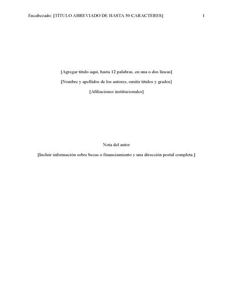 Informe estilo APA (6.ᵃ edición)