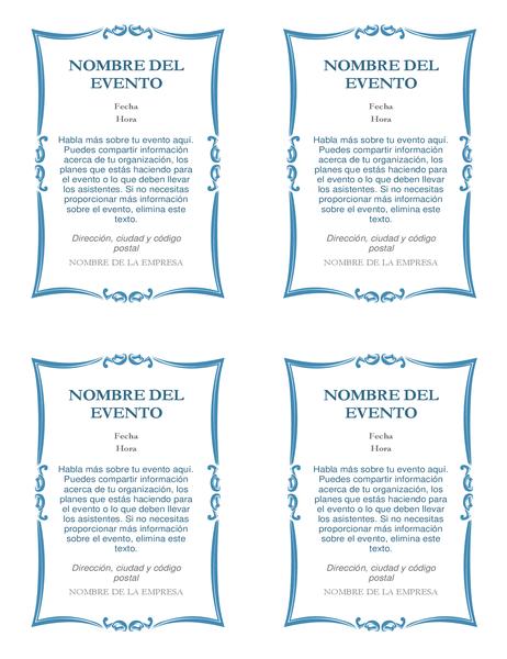 Invitaciones a eventos (4 por página)