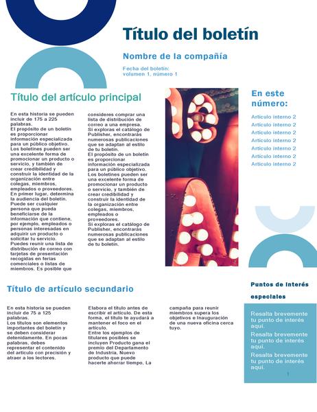 Boletín de la empresa (diseño de arco, 4 páginas)