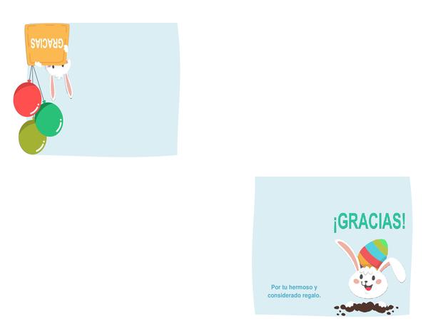 Tarjeta de agradecimiento de Pascua (se dobla en cuatro partes)