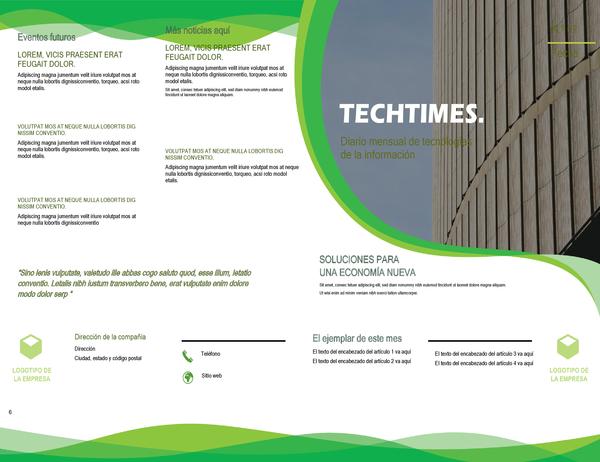 Boletín (diseño de ondas verdes)