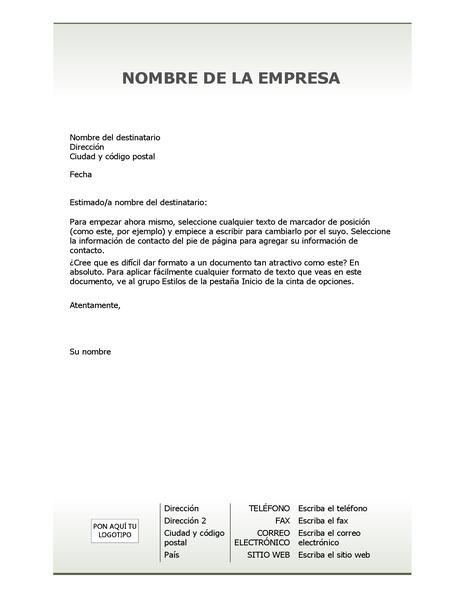 Diseño de fondo del membrete de la empresa (diseño sencillo)