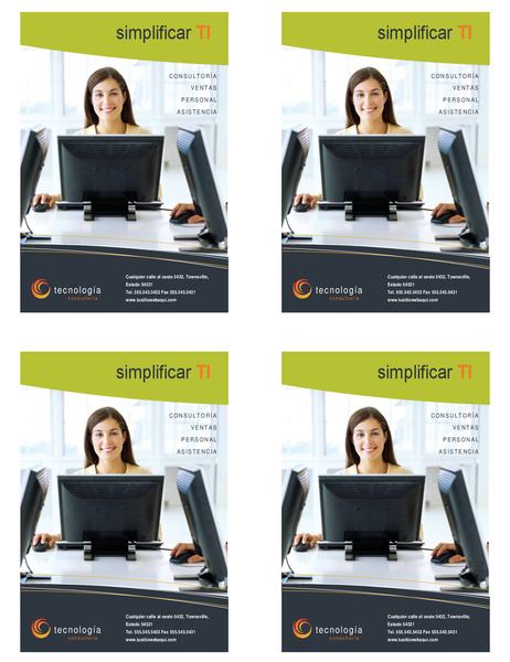 Prospecto de empresa de tecnología (un cuarto de página, 4 por página)
