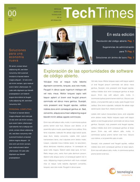 Folleto de empresa de tecnología (4 páginas)